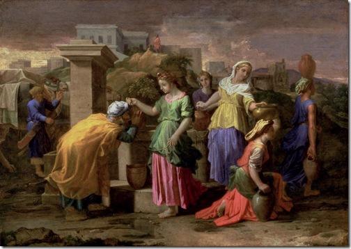 Eliezer Meets Rebecca (Eliézer et Rébecca), 1659-1661, Nicolas Poussin