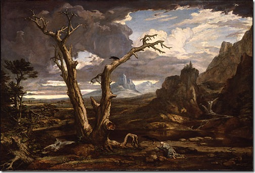 Elijah in the Desert (Elias in der Wüste ), 1818, Washington Allston
