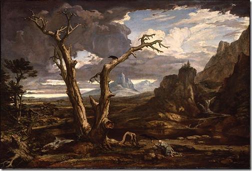 Elijah in the Desert (Elias in der Wüste ), 1818, Washington Allston