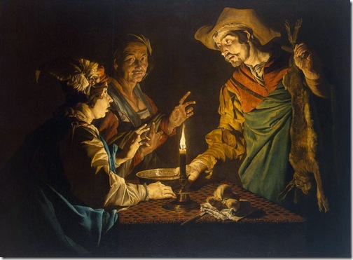 Esau and Jacob, 1640s, Matthias Stomer