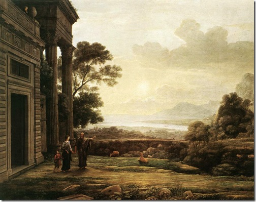 The Expulsion of Hagar (Die Verstoßung der Hagar), 1668, Claude Lorrain