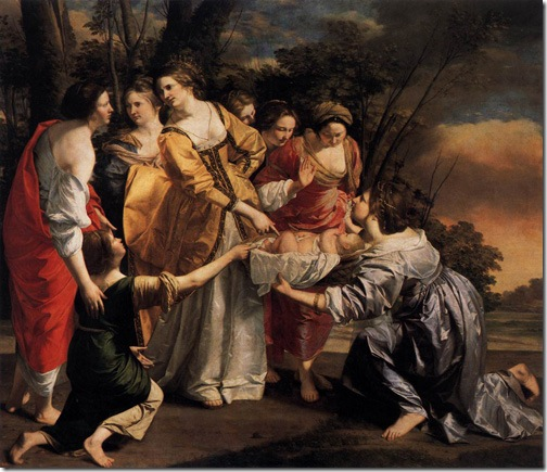 Moses Saved from the Waters (The Finding of Moses / Moisés salvado de las aguas), 1633, Orazio Gentileschi