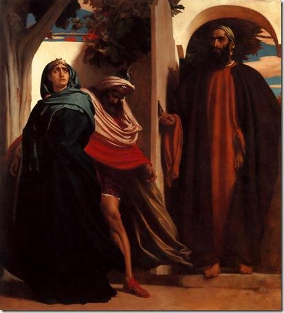 Jezebel and Ahab Met by Elijah, ca. 1862, Frederic Leighton