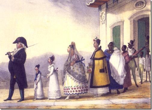 Um Funcionário a Passeio com sua família, 1837/39, Jean Baptiste Debret