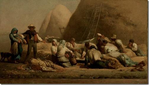 Harvesters Resting (Ruth and Boaz), 1850-53, Jean-François Millet