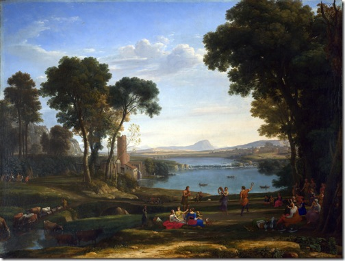 Landscape with the Marriage of Isaac and Rebecca, 1648, Claude Lorrain