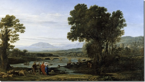 Landscape with Jacob and Laban and Laban's Daughters, 1654, Claude Lorrain
