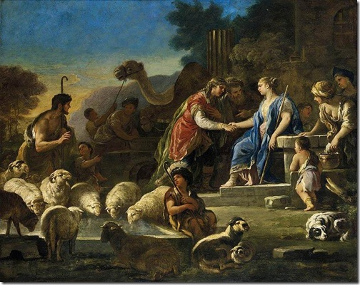 Jacob and Rachel at the Well, ca. 1690, Luca Giordano