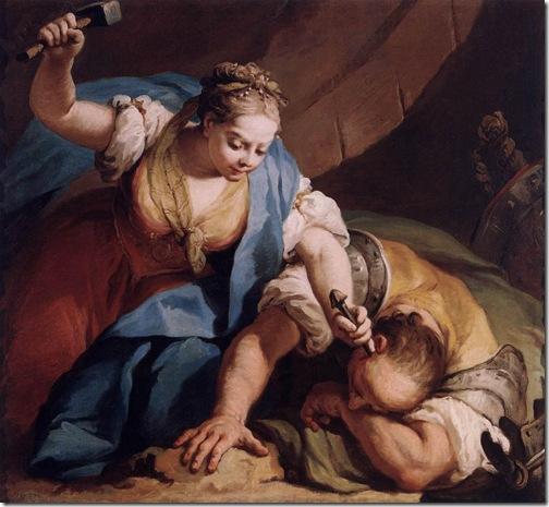 Jael and Sisera, ca. 1739, Giacomo Amiconi