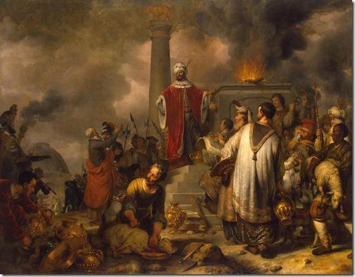 Jeroboam's Sacrifice at Bethel, 1656, Gerbrand van den Eeckhout