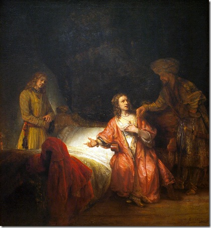 Joseph Accused by Potiphar's Wife, 1655, Workshop of Rembrandt van Rijn