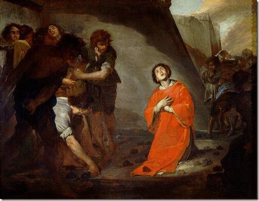 Martyrdom of St Stephen (Martirio de san Esteban), Bernardo Cavallino