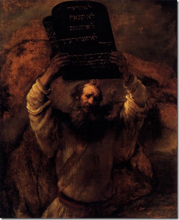 Moses Smashing the Tablets of the Law (Moses mit den Gesetzestafeln), 1659, Rembrandt van Rijn