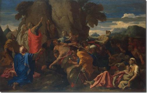 Moses Striking The Rock, 1649, Nicolas Poussin