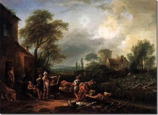 Parable of the Workers in the Vineyard, 1769, Johann Christian Brand