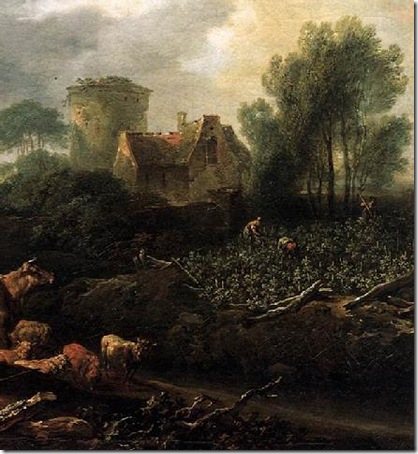 Parable of the Workers in the Vineyard, detail, 1769, Johann Christian Brand