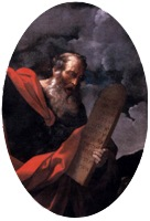Moses with the Tablets of the Law, c. 1624, Guido Reni, detail