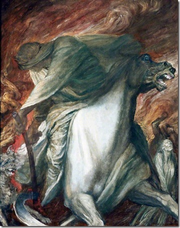 The Four Horsemen of the Apocalypse: The Rider on the Pale Horse, c. 1878, George Frederick Watts