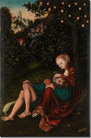 Samson and Delilah, c. 1529-1530, Lucas Cranach the Elder