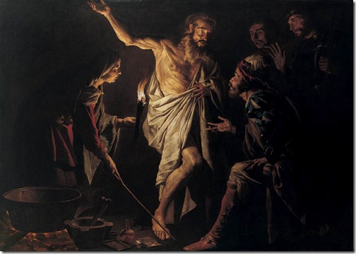 Saul and the Witch of Endor, c.1635, Matthias Stomer