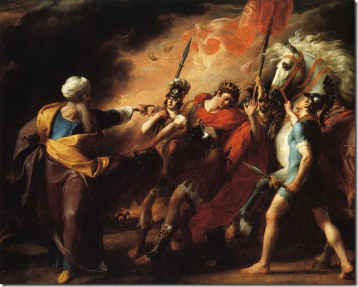 Saul Reproved by Samuel for Not Obeying the Commandments of the Lord, 1798, John Singleton Copley