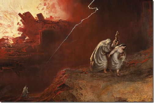 DETAIL: The Destruction of Sodom and Gomorrah, 1852, John Martin