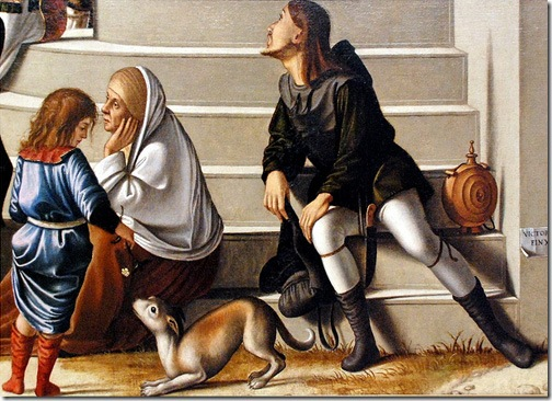 DETAIL: St. Stephen is Consecrated Deacon (Die Weihe des hl. Stephanus zum Diakon), 1511, Vittore Carpaccio