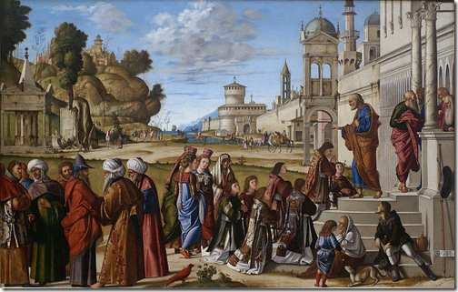 St. Stephen is Consecrated Deacon (Die Weihe des hl. Stephanus zum Diakon), 1511, Vittore Carpaccio