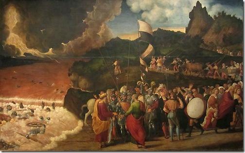 Submersion of Pharaoh in the Red Sea (Passaggio del Mar Rosso), 1515-20, Andrea Previtali