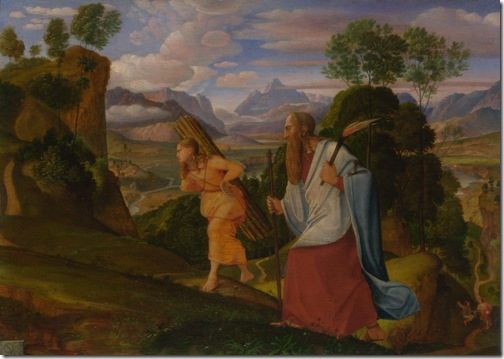 Abraham and Isaac, 1817, Johann Heinrich Ferdinand Olivier