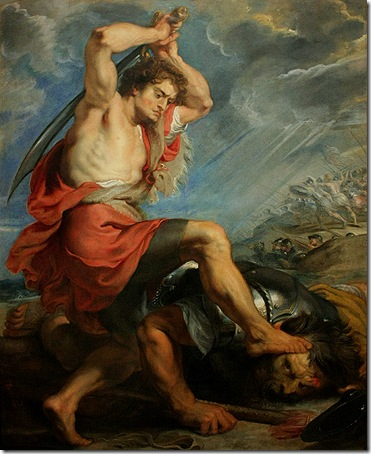 David Slaying Goliath, c. 1616, Peter Paul Rubens