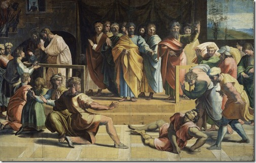 The Death of Ananias, 1515-1516, Raphael