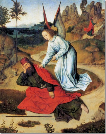 The Prophet Elijah in the Desert, 1464-68, Dieric Bouts the Elder