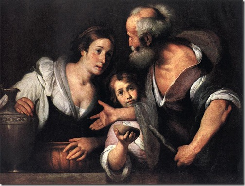 Prophet Elijah and the Widow of Sarepta, 1630s, Bernardo Strozzi