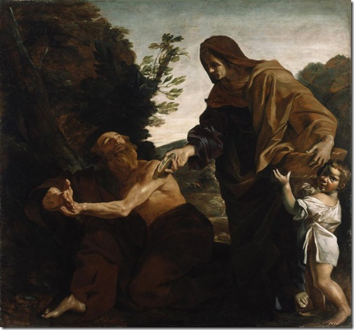 Elijah Receiving Bread from the Widow of Zarephath, 1621-1624, Giovanni Lanfranco