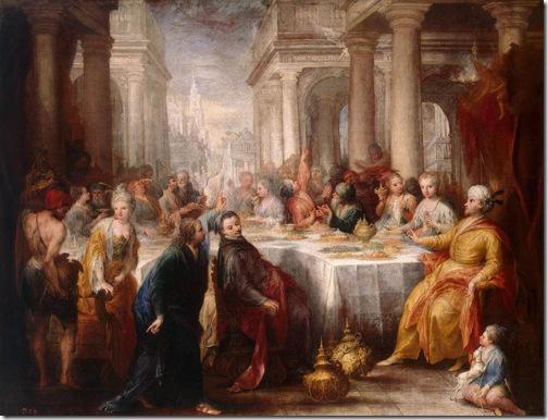 Feast of Belshazzar, 1705, Andrea Celesti