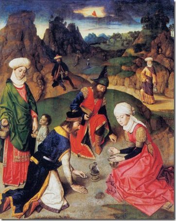 The Gathering of the Manna, c. 1465, Dieric Bouts the Elder