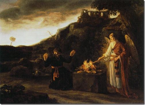 Gideon and the Angel, c. 1651, Constantijn van Renesse