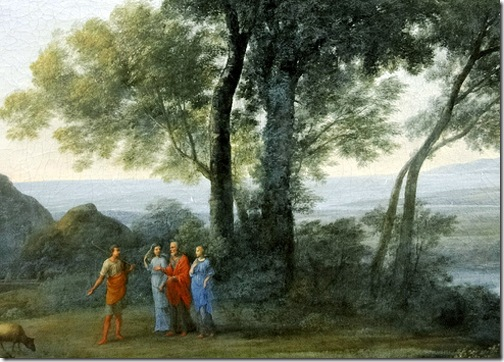 DETAIL: Jacob with Laban and his daughters, 1676, Claude Lorrain
