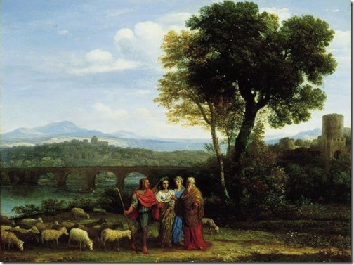 Landscape with Jacob and Laban and His Daughters,1659, Claude Lorrain