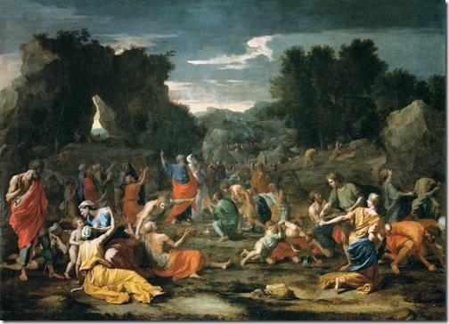 Jews Gathering the Manna in the Desert (Les israélites recueillant la manne dans le désert), 1637-1639, Nicolas Poussin