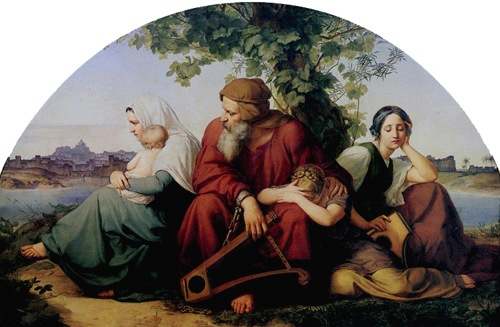 The Jews Mourning in Exile (Die trauernden Juden im Exil), c. 1832, Eduard Bendemann