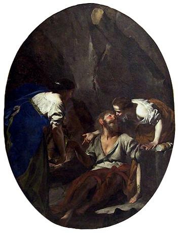 Lot and His Daughters (Loth et ses filles), 1644-45, Bernardo Cavallino