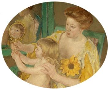 Mother and Child, detail, c. 1905, Mary Stevenson Cassatt