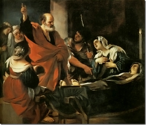 St.Peter Revives Tabitha (San Pietro resuscita Tabita / Resurrezione di Tabita / St. Peter Ranime Tbitha), 1618, Il Guercino