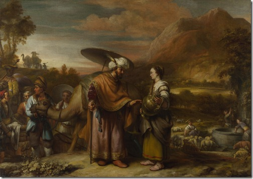 Rebekah and Eliezer at the Well, 1661, Gerbrand van den Eeckhout