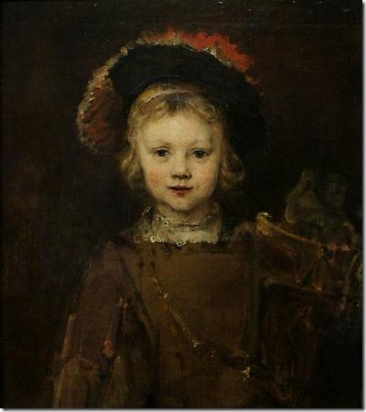 """Portrait of a Boy in Fancy Dress, """"Titus"""", c. 1655, Rembrandt van Rijn"""