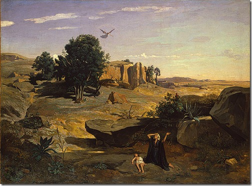 Hagar in the Wilderness, 1835, Jean-Baptiste-Camille Corot