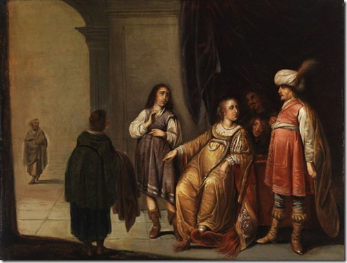 Joseph accused by Potiphar's wife (Joseph wird von Potiphars Frau beschuldigt), Attributed to Pieter Symonsz Potter