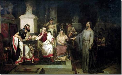 The Apostle Paul before King Agrippa, Berenice and Festus, 1875, Vasily Surikov